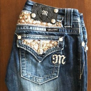 Sequin bling Miss Me Jeans
